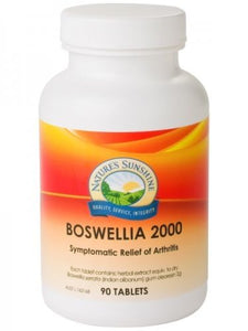 Nature's Sunshine, Boswellia, 2000 mg, 90 Tablets - Herbal Supplement