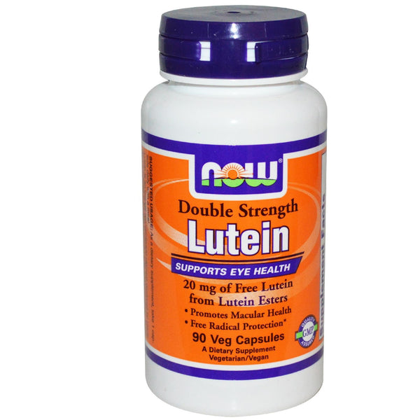 Now Foods Lutein Double Strength 20mg of Free Lutein Esters 90 Veggie Caps