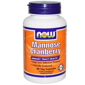 Now Foods, Mannose Cranberry, 90 VCaps