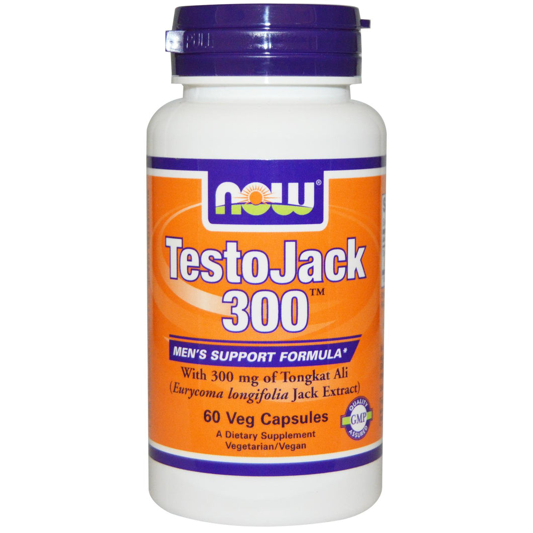 Now Foods, TestoJack 300, 60 Vcaps - Dietary Supplement