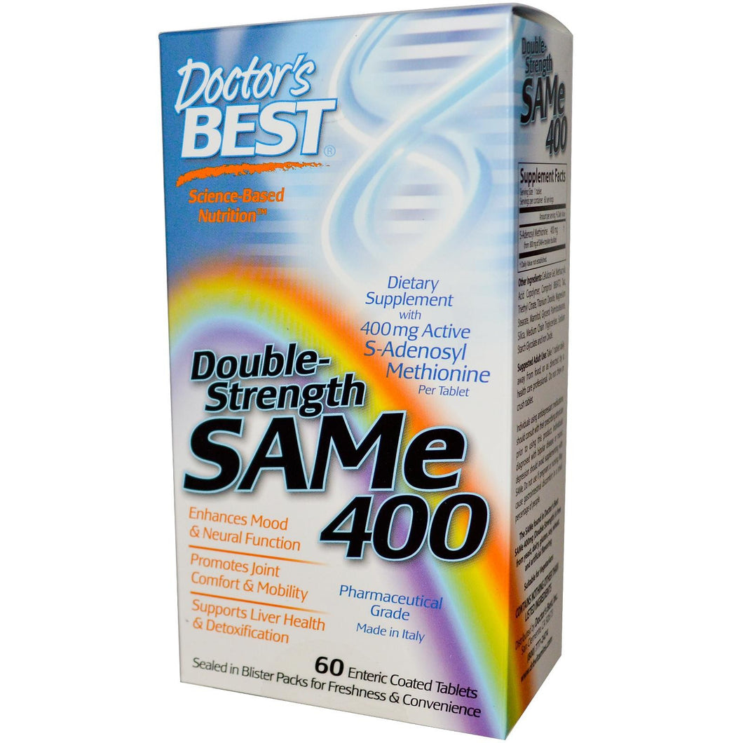 Doctor's Best SAMe 400 Double Strength 60 Enteric Coated Tablets