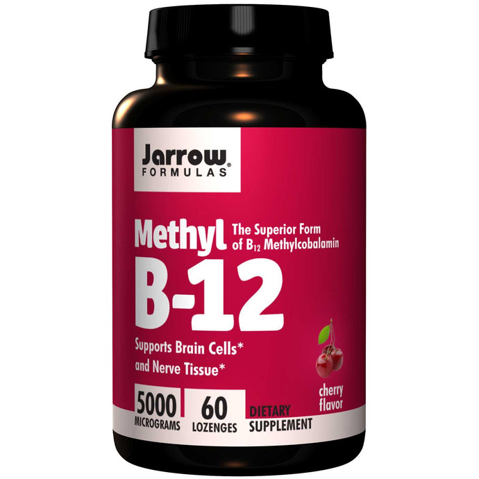 Jarrow Formulas Methyl B-12 Cherry Flavour 5000 mcg 60 Lozenges