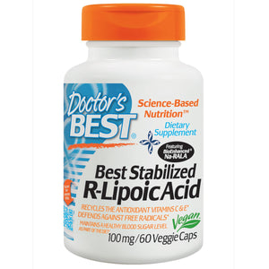 Doctor's Best, Best Stabilised R-Lipoic Acid, 100 mg, 60 VCaps