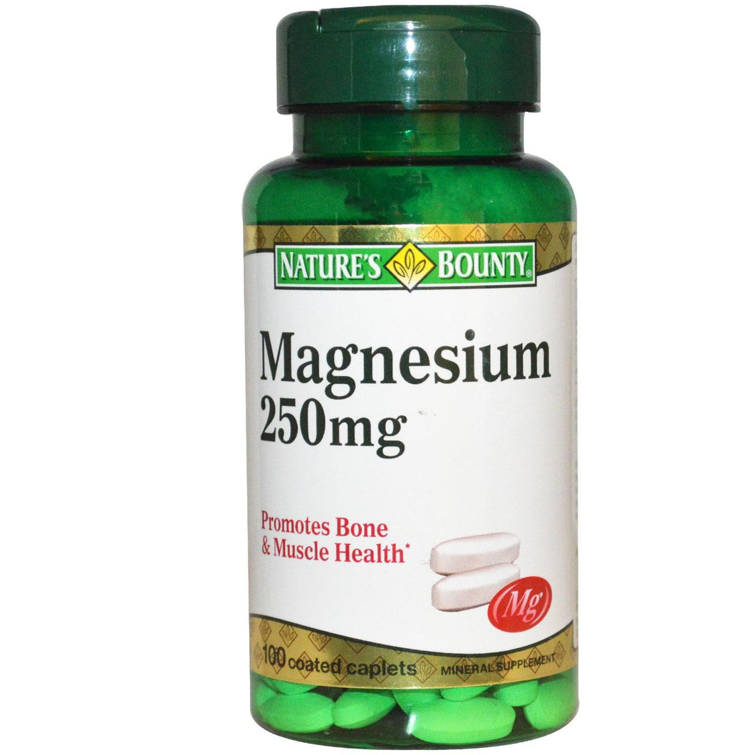 Nature's Bounty Magnesium 250mg 100 Caplets - Mineral Supplement