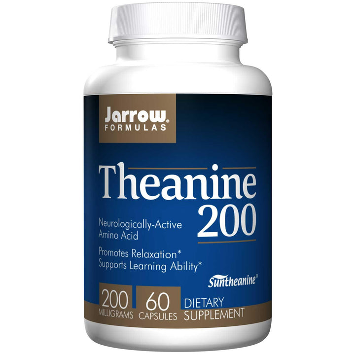 Jarrow Formulas Theanine 200 200 mg 60 Capsules - Dietary Supplement