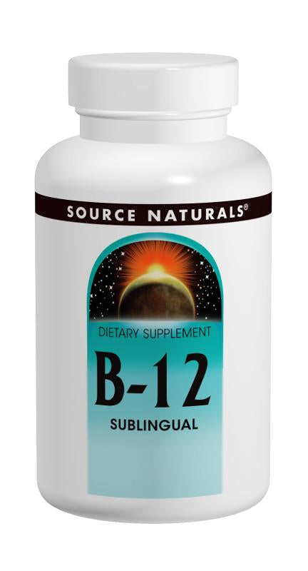 Source Naturals, B-12 Sublingual, 2000 mcg, 100 Tablets
