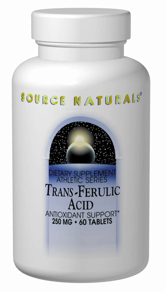 Source Naturals, Trans - Ferulic Acid, 250mg, 60 Tablets