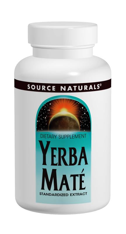 Source Naturals Yerba Mate 600mg 90 Tablets - Dietary Supplement