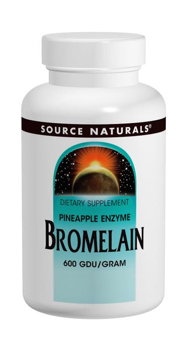 Source Naturals Bromelain 600 GDU/Gram 500 mg 120 Tablets