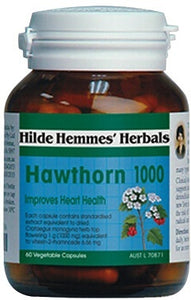 Hilde Hemmes Herbal's Hawthorn 1000 mg 60 VCaps - Herbal Supplement
