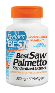 Doctor's Best Saw Palmetto 320mg 60 SoftGels - Dietary Supplement