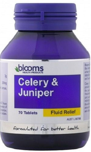 Blooms Health Products, Celery & Juniper, 70 Tablets