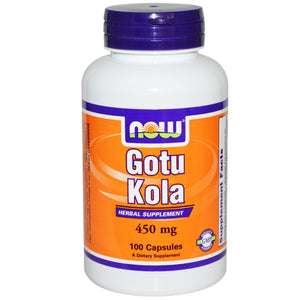Now Foods Gotu-Kola 450mg 100 Capsules - Dietary Supplement