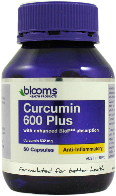 Henry Blooms, Health Products Curcumin 600 Plus, 60 Capsules