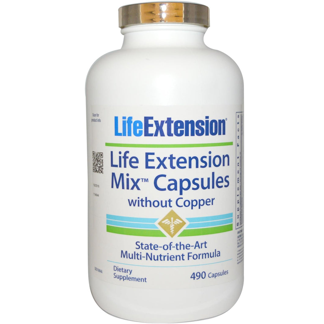 Life Extension, Mix Capsules, without Copper, 490 Capsules