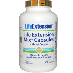 Life Extension, Mix Capsules, without Copper, 360 Capsules