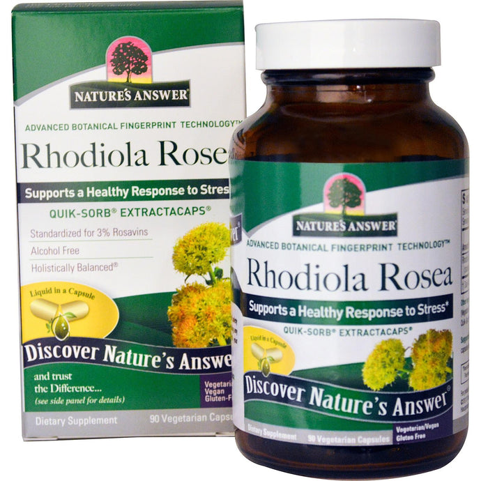 Nature's Answer, Rhodiola Rosea, 90 VCaps - Dietary Supplement