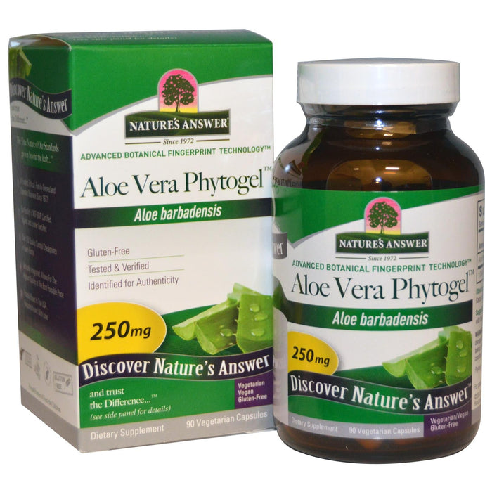 Nature's Answer Aloe Vera Phytogel 250 mg 90 VCaps