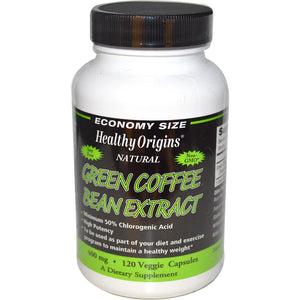 Healthy Origins, Green Coffee Bean Extract, 400 mg, 120 VCaps