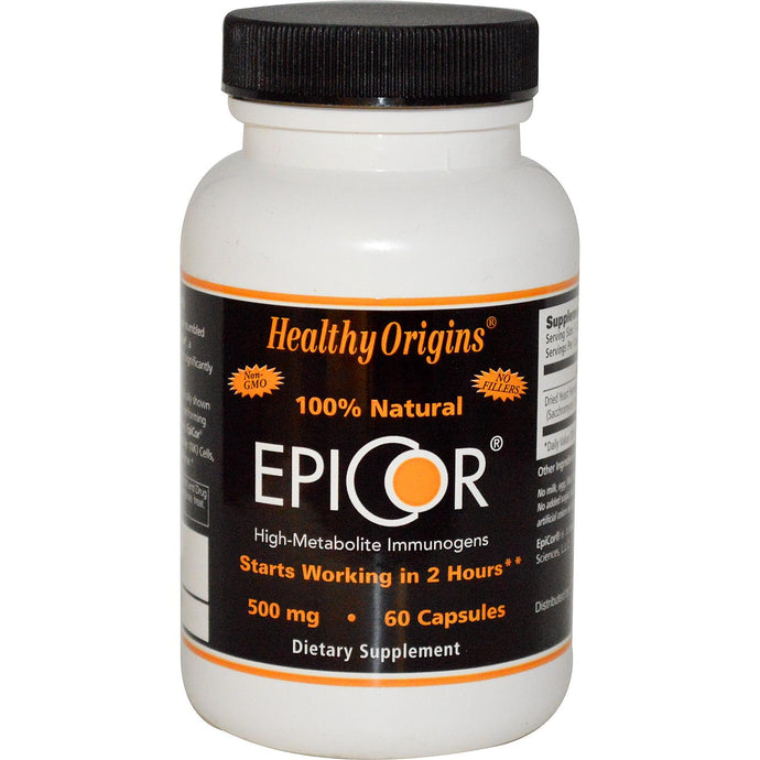 Healthy Origins, EpiCor, 500 mg, 60 Capsules - Dietary Supplement