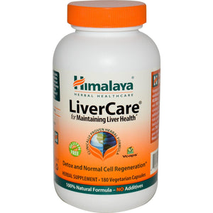 Himalaya Herbal Healthcare, Liver Care, 180 VCaps - Herbal Supplement