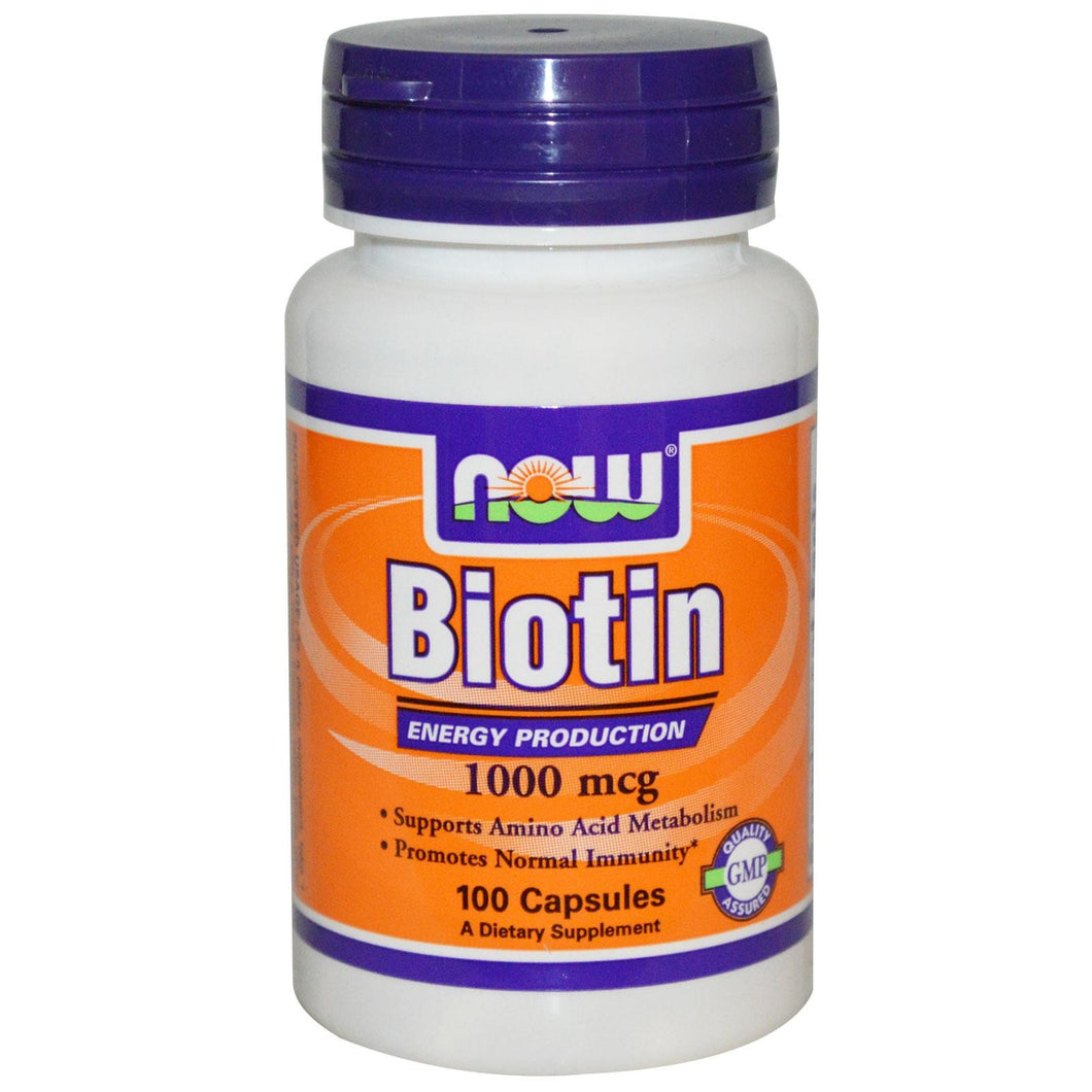 Now Foods Biotin 1000 mcg 100 Capsules - Dietary Supplement