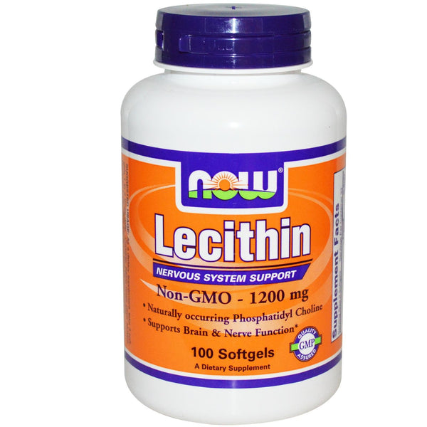 Now Foods Lecithin 1200 mg 100 Softgels - Dietary Supplement