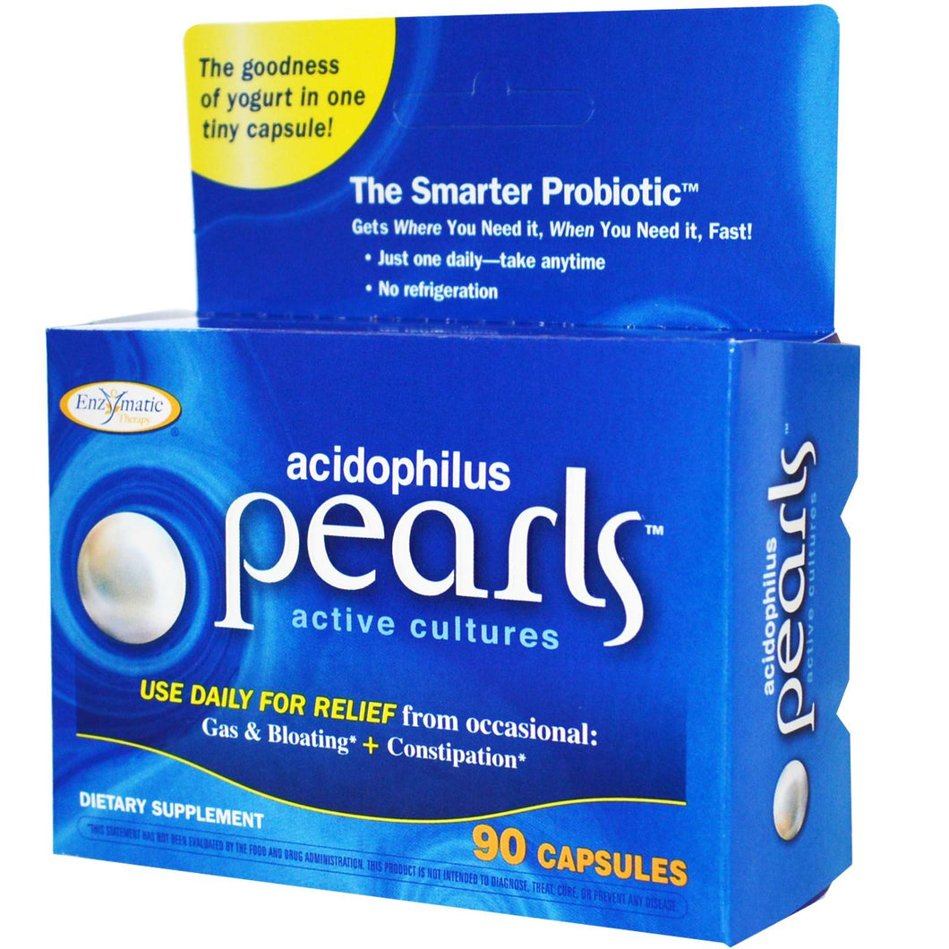 Enzymatic Therapy Acidophilus Pearls 90 Capsules - Dietary Supplement