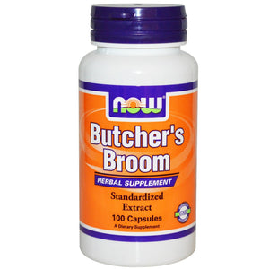 Now Foods Butcher's Broom 100 Capsules - Herbal Supplement