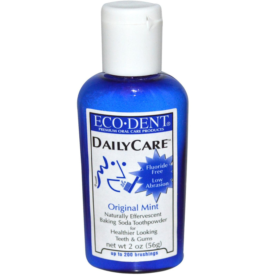 Eco-Dent, Daily Care, Baking Soda Toothpowder, Original Mint, 56 g, 2 oz