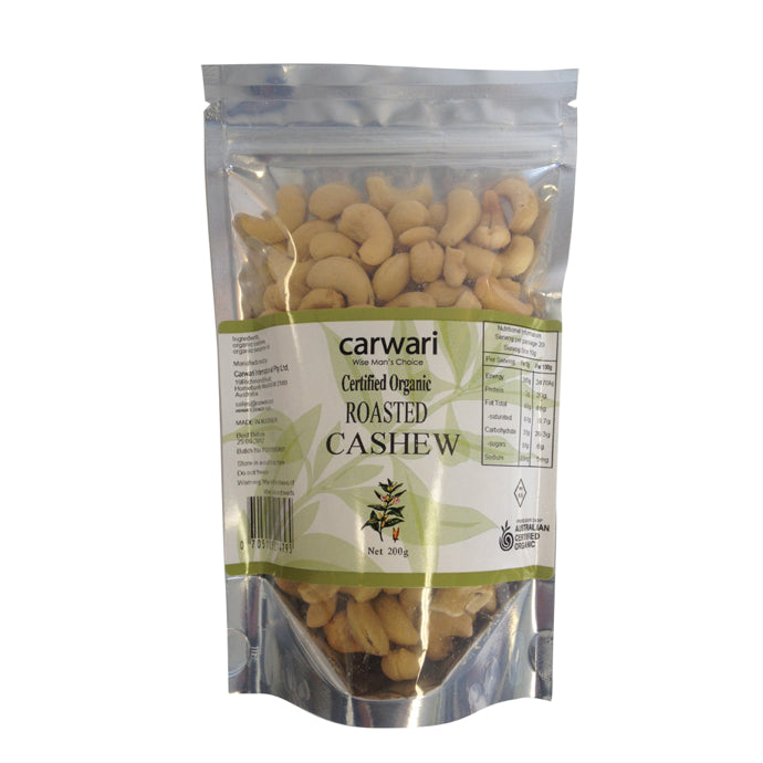 Carwari, Organic Salted Roasted Cashew, 200 g - Health Supplement