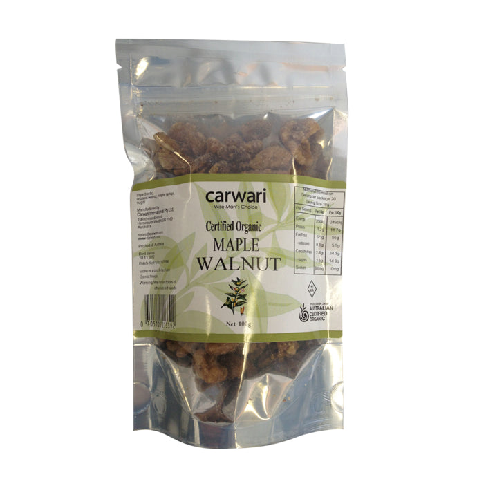 Carwari, Organic Maple Walnut, 100 g - Health Supplement