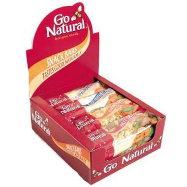 Go Natural, Snack Bar 50 g, Mixed Box, 6 Flavours X 16 Snack Bars