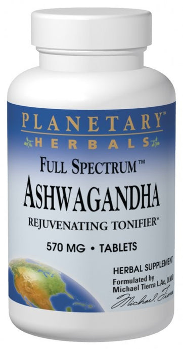 Planetary Herbals Ashwagandha Full Spectrum 570 mg 60 Tablets
