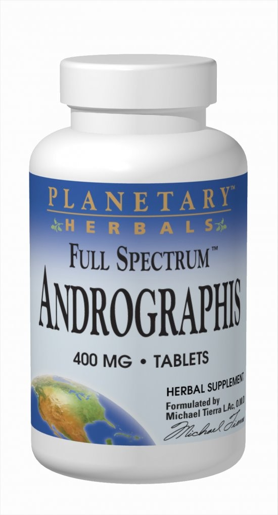 Planetary Herbals, Andrographis, 400 mg, 120 Tablets