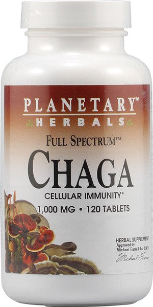 Planetary Herbals, Full Spectrum, Chaga, 1000 mg, 60 Tablets