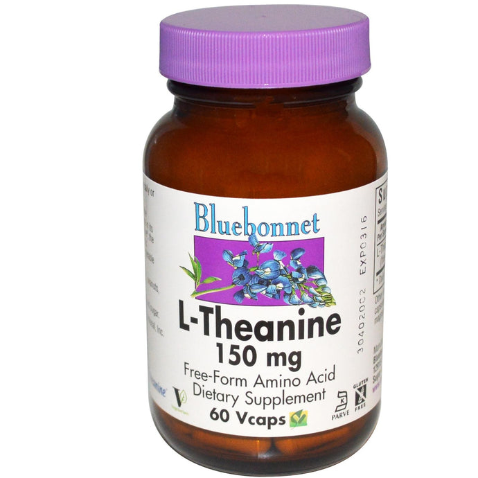 Bluebonnet Nutrition, L-Theanine, 150 mg, 60 VCaps