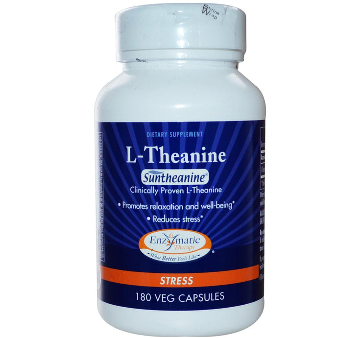 Enzymatic Therapy, L-Theanine, Stress, 180 VCaps - Dietary Supplement