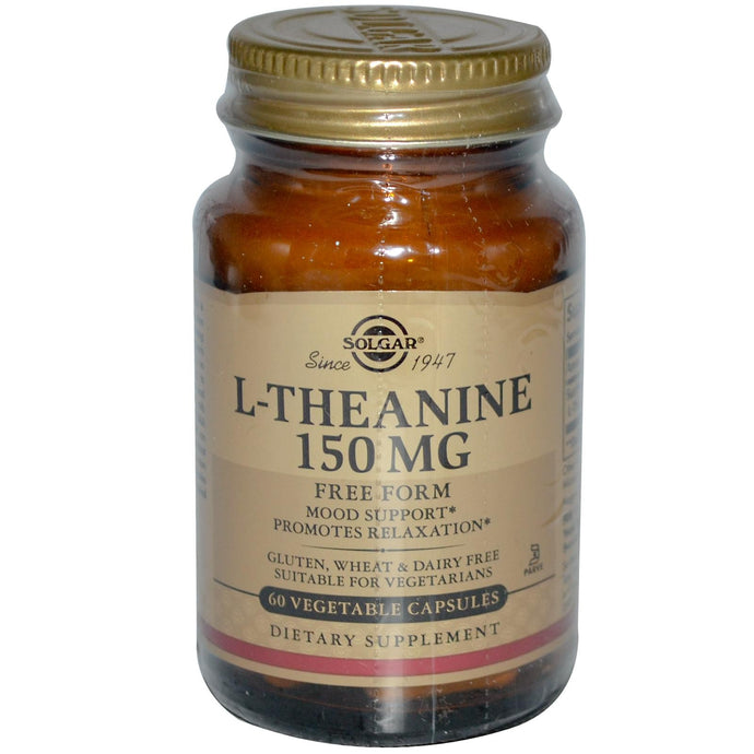 Solgar, L-Theanine, Free Form, 150 mg, 60 VCaps - Dietary Supplement