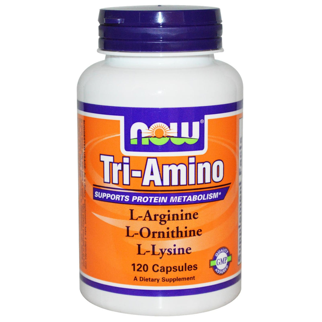 Now Foods Tri-Amino 120 Capsules - Dietary Supplement