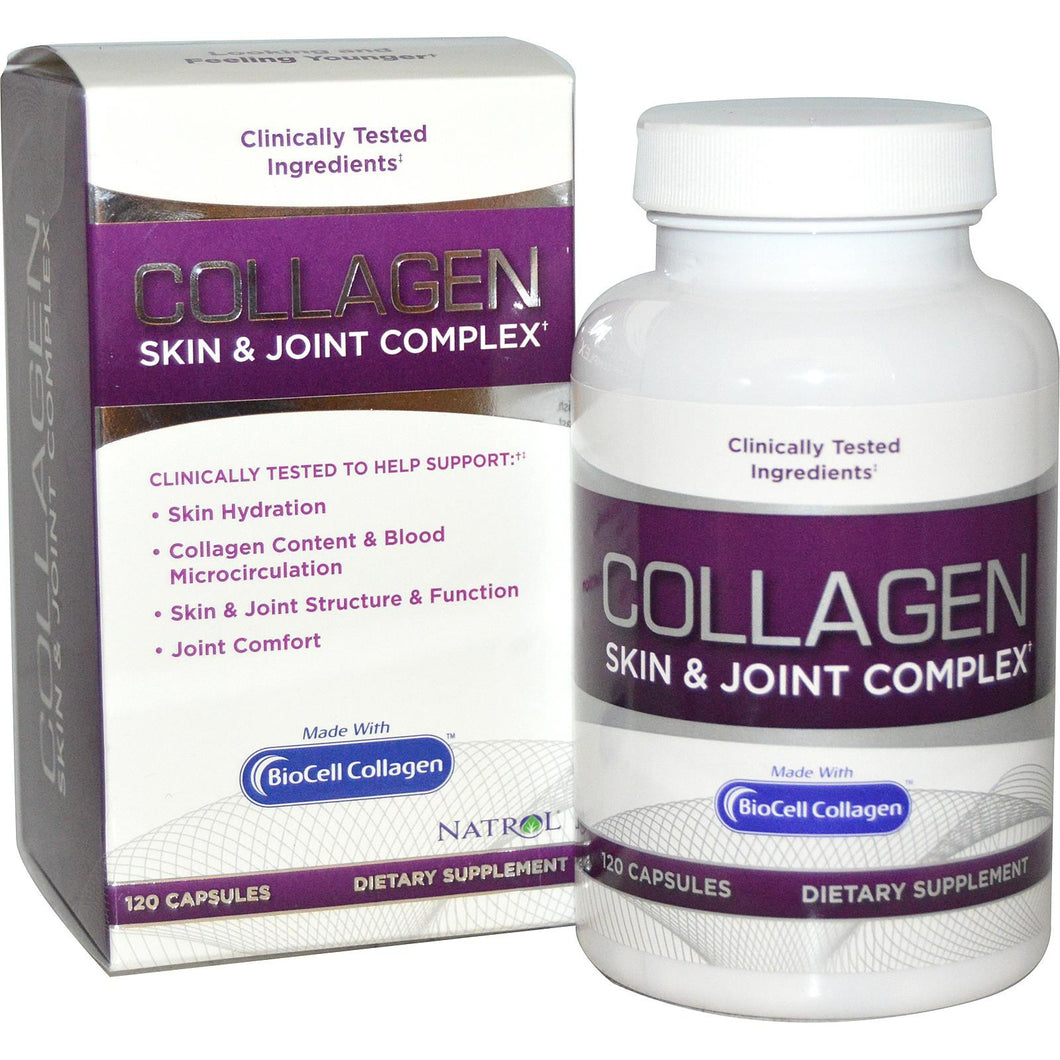 Natrol, Collagen Skin & Joint Complex, 120 Capsules