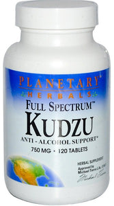 Planetary Herbals Full Spectrum Kudzu 750 mg 120 Tablets