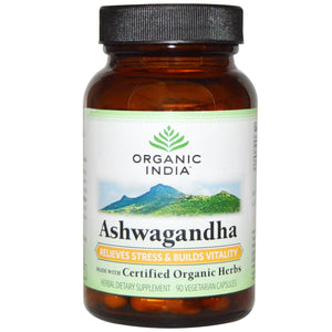 Organic India, Organic, Ashwagandha, 90 VCaps - Supplement
