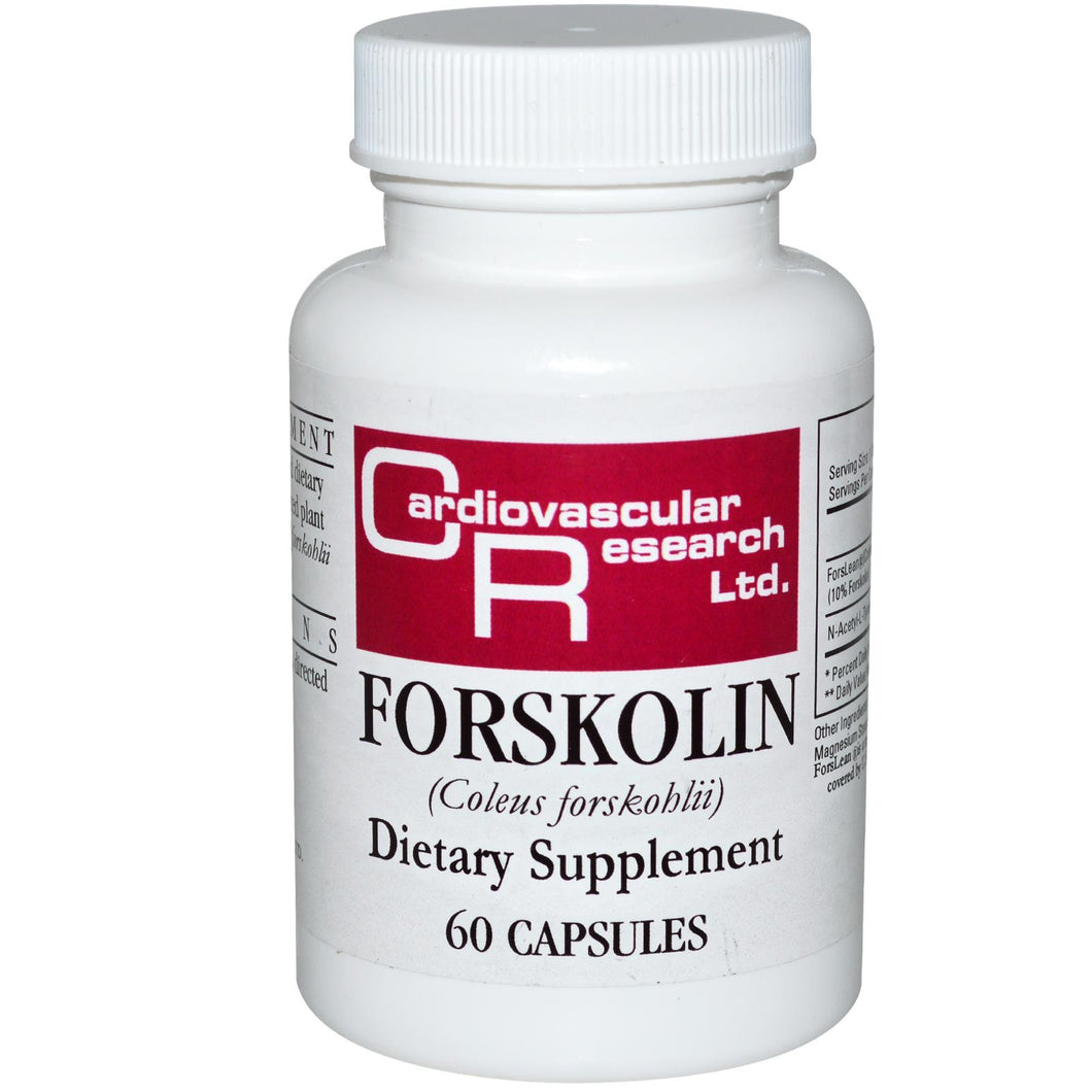 Cardiovascular Research Ltd., Forskolin, 100 mg 60 Capsules