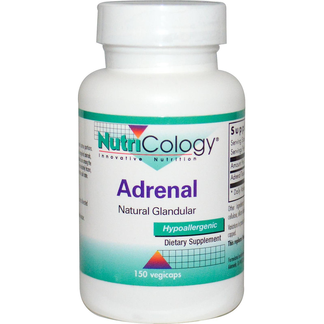 Nutricology Adrenal Natural Glandular 150 VCaps - Dietary Supplement