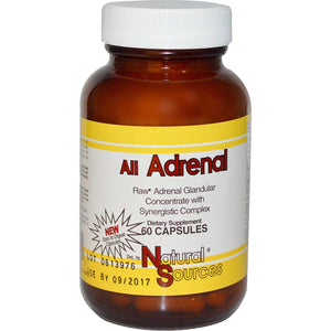 Natural Sources, All Adrenal, 60 Capsules - Dietary Supplement