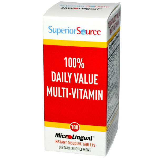 Superior Source Daily Multi-Vitamin 100 Microlingual Instant Dissolve Tablets