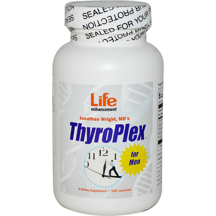 Life Enhancement, ThyroPlex for Men, 120 Capsules - Dietary Supplement