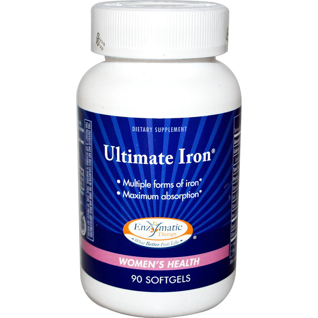 Enzymatic Therapy Ultimate Iron Women's Health 90 Softgels