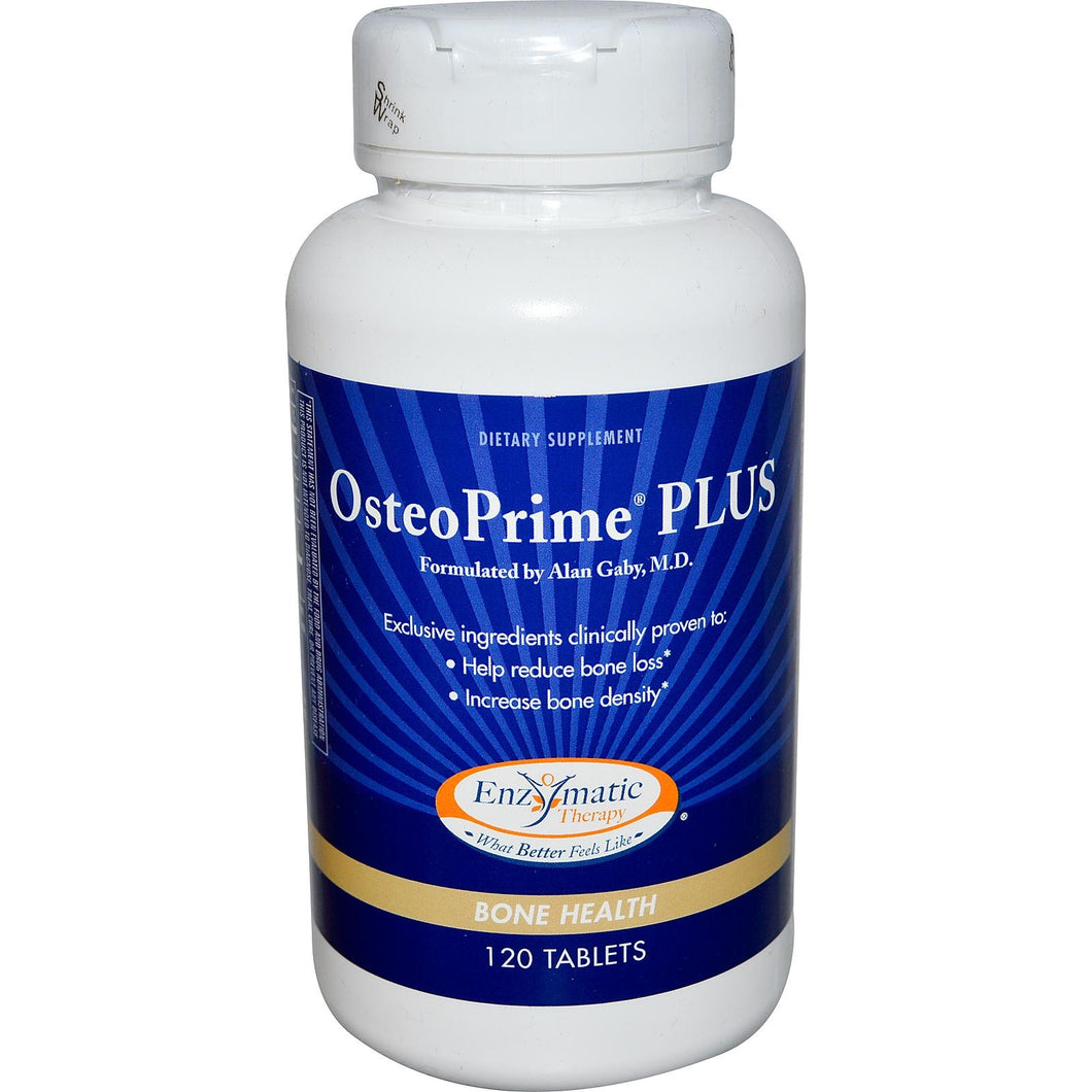 Enzymatic Therapy, OsteoPrime Plus, 120 Tablets - Dietary Supplement